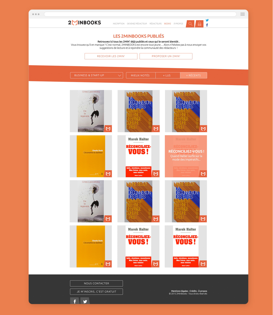 Cam.Lab. webdesign 2minbooks - les publications