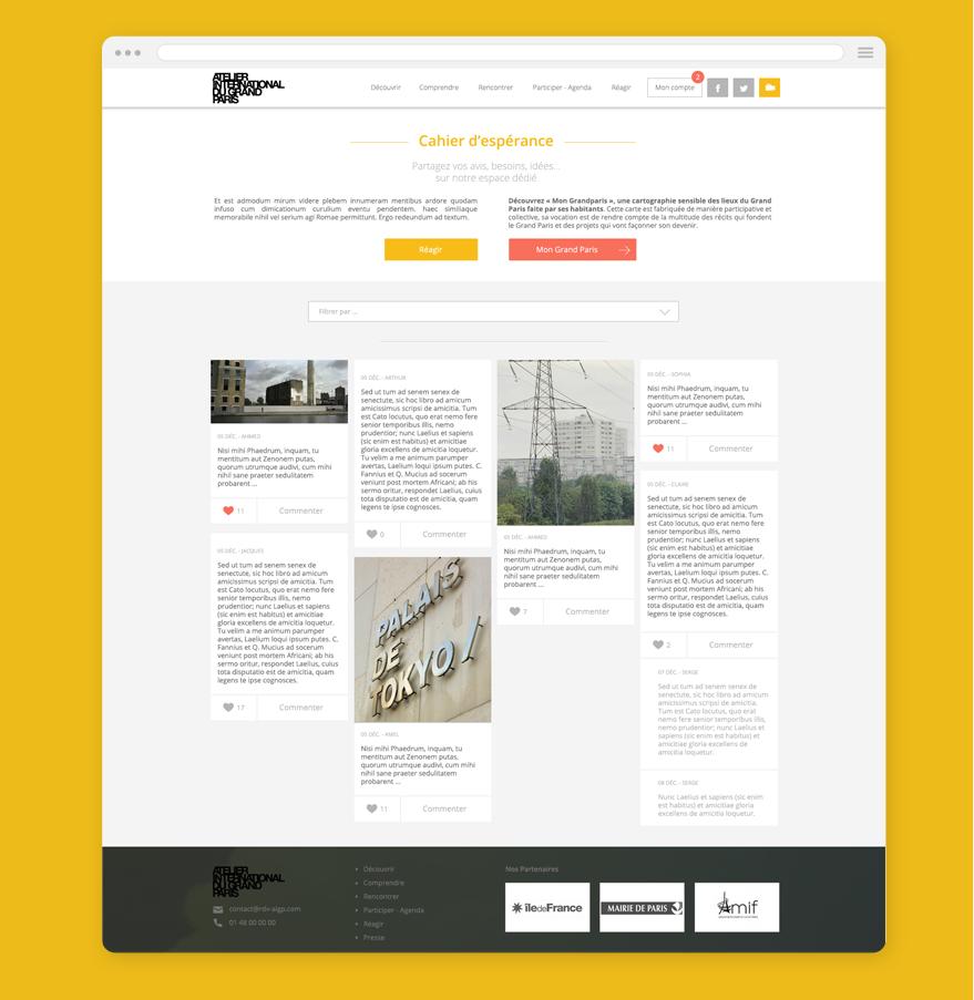 Cam.Lab. webdesign Grand Paris #climat cahier d'espérance