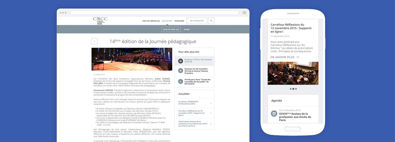 Cam.Lab. webdesign CRCC Versailles cover