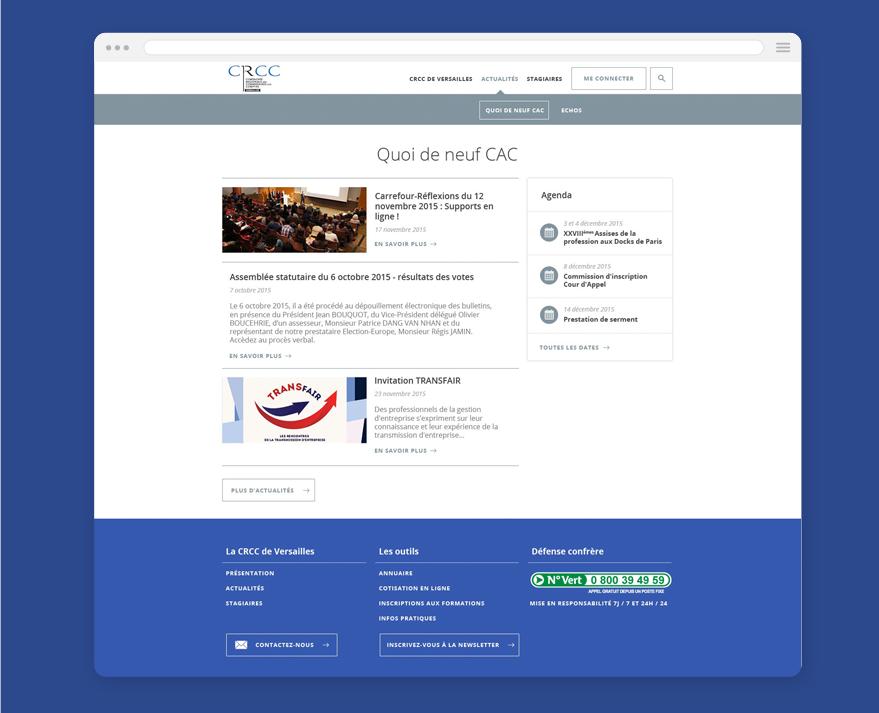 Cam.Lab. webdesign CRCC Versailles Quoi de neuf CAC