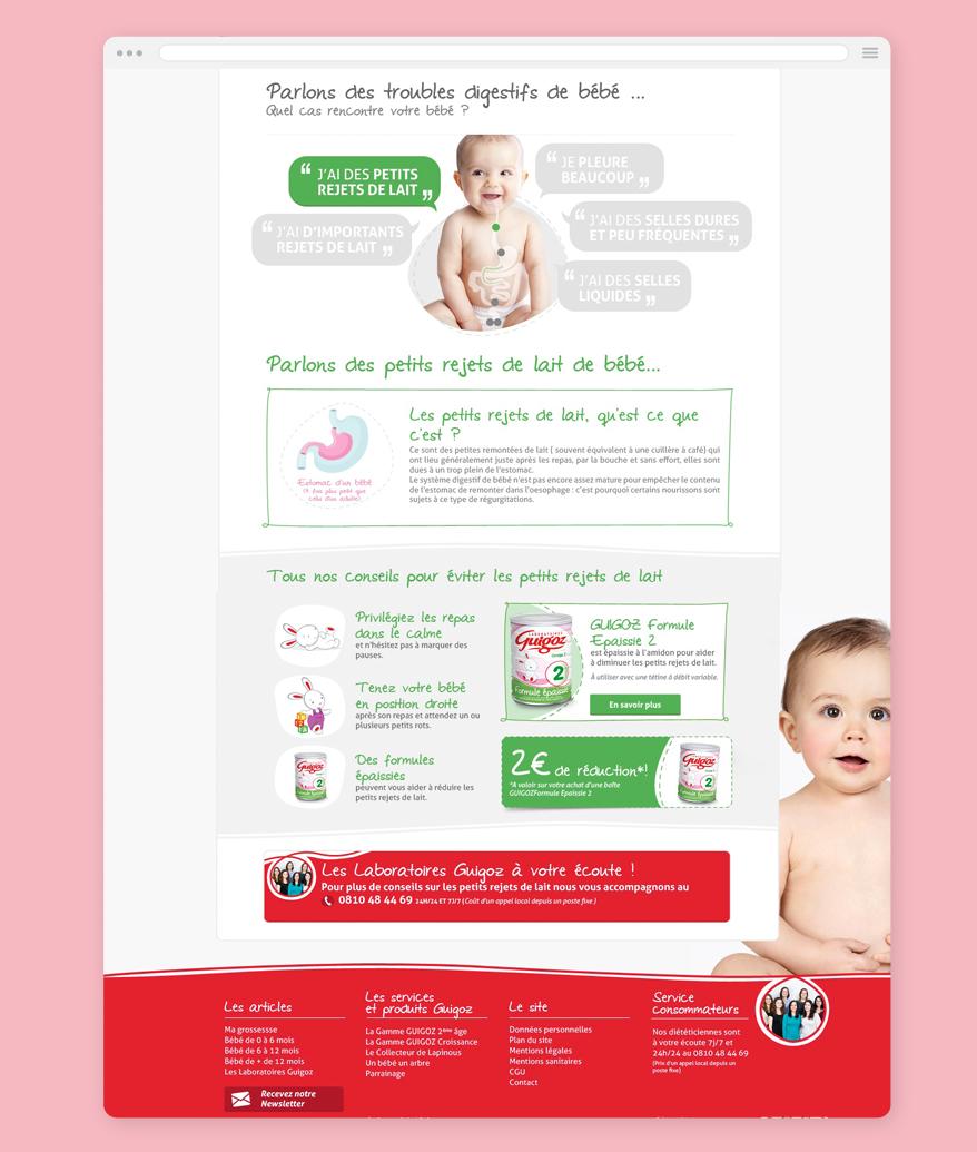 Cam.Lab. webdesign Guigoz les troubles digestifs de bébé