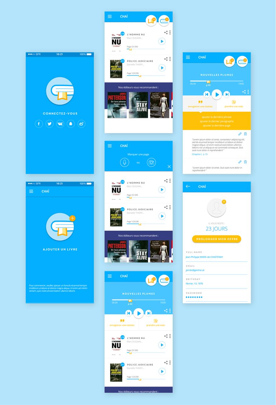 Cam.Lab. webdesign Chaï application mobile