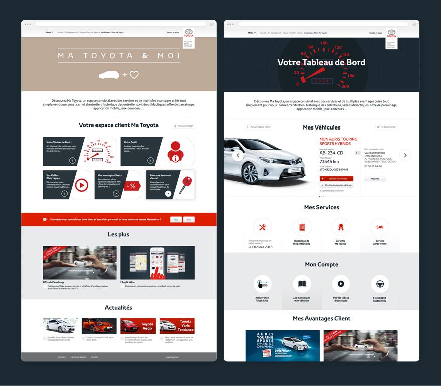 Cam.Lab. webdesign Ma Toyota espace adhérent