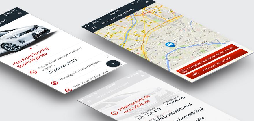 Cam.Lab. webdesign Ma Toyota espace adhérent application