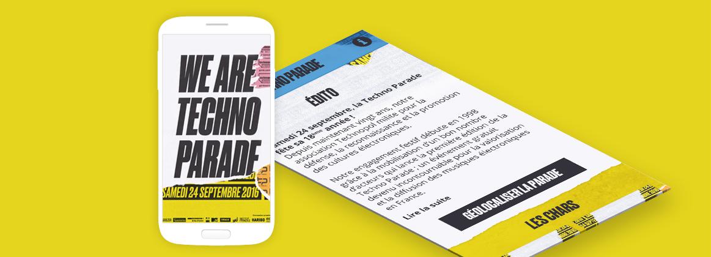 Cam.Lab. webdesign Techno Parade cover