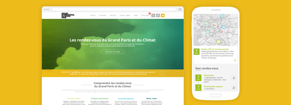 Cam.Lab. webdesign Grand Paris #climat cover