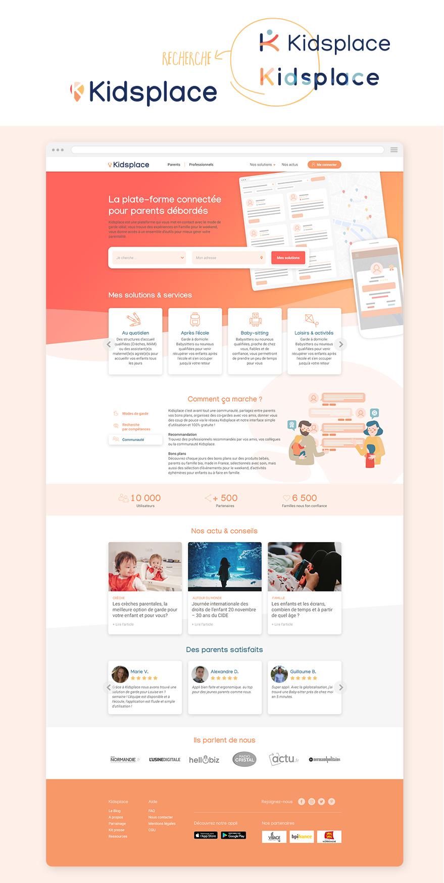home Kidsplace refonte UI - illustration - webdesign - Camille Labory
