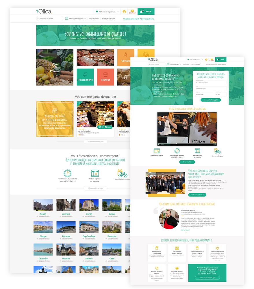 Ollca Identité visuelle - webdesign - Direction artistique - Camille Labory