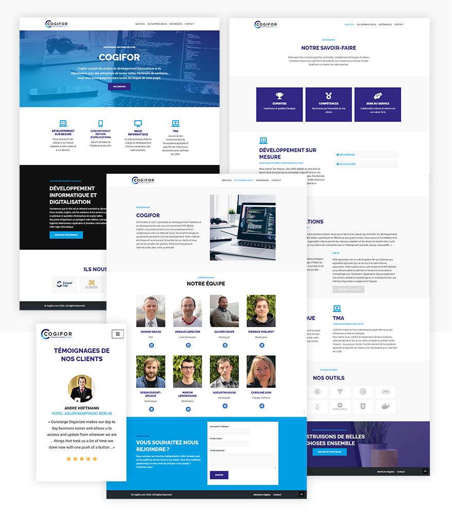 Refonte du site cogifor - exemple de page du site - Refonte UX UI